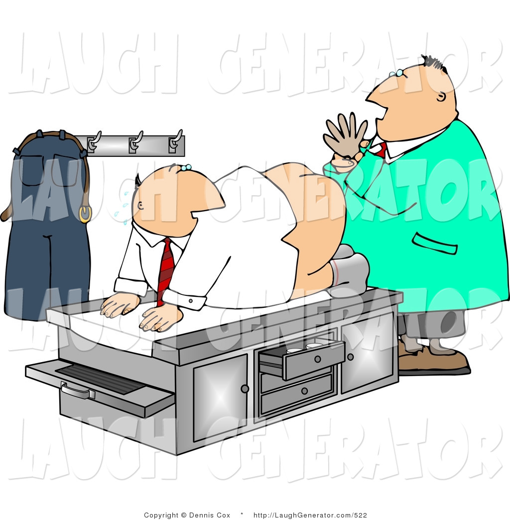 Clip Art of a Male Doctor Giving Patient a Rectal Prostate Examination ...
