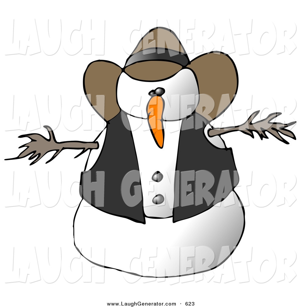 Royalty Free Snow Man Stock Humor Designs