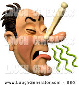 March 5th, 2013: Humorous Clip Art of a 3d Caucasian Disgusted Man Plugging His Nose to Avoid a Stench by Amy Vangsgard