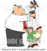 Humorous Clip Art of a Business Puppeteer Man Controlling the People in His Life - Concept Clipart by Djart