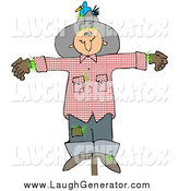 Humorous Clip Art of a Depressed Scarecrow by Djart