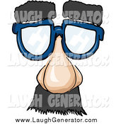 August 25th, 2014: Humorous Clip Art of a Disguise Glasses with Hairy Eyebrows, a Nose and Mustache by PlatyPlus Art