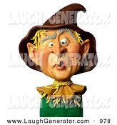 Humorous Clip Art of a Funny 3d George W Bush As a Scarecrow by Amy Vangsgard
