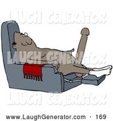 Humorous Clip Art of a Grinning Excited Old African American Man with a Hardon, Sitting in a Chair and Wearing Only Socks by Djart