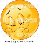 Humorous Clip Art of a Laughing Emoticon Covering His Grin by Yayayoyo