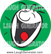 Humorous Clip Art of a Laughing Man with a Happy Expression by Frisko