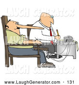 Humorous Clip Art of a Lie Detector Machine While Interrogating a Lying Man Who by Djart