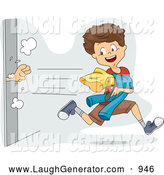 Humorous Clip Art of a Mischievous Boy Snagging Clothes from a Dressing Room by BNP Design Studio