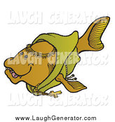 August 18th, 2014: Humorous Clip Art of a Monk Fish in a Robe by Snowy
