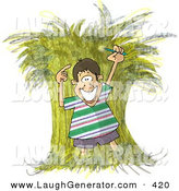 Humorous Clip Art of a Needle Lost in a Haystack by Djart