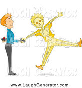 September 17th, 2014: Humorous Clip Art of a Prankster White Man Shaking Hands and Shocking His Friend by BNP Design Studio