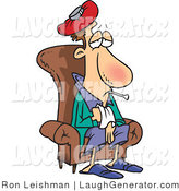 July 21st, 2012: Humorous Clip Art of a Sick Person Sitting in a Chair by Toonaday