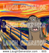 May 24th, 2013: Humorous Clip Art of a Stressed out Black Man, a Father, Husband or Manager, Holding His Hands to His Cheeks While Screaming, a Humorous Parody of the Scream by Edvard Munch by Djart