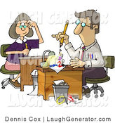 Humorous Clip Art of Accountants Hard at Work by Djart