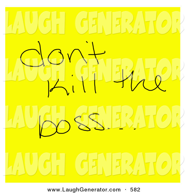 Humorous Clip Art Of A Silly Reminder On A Sticky Note On
