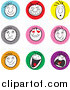 Humorous Clip Art of Male Facial Expressions by Frisko